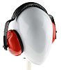 RS PRO Ear Defender with Headband, 28dB, Red