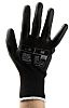 RS PRO, Black Polyurethane Coated Work Gloves, Size