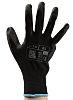 RS PRO, Black Polyurethane Coated Work Gloves, Size