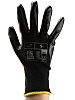 RS PRO, Black Nitrile Coated Work Gloves, Size
