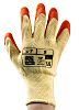 RS PRO, Orange Latex Coated Work Gloves, Size