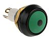 ITW Switches 59 Single Pole Single Throw (SPST) Momentary Green LED Miniature Push Button Switch, IP67, 13.65 (Dia.)mm,