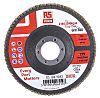 RS PRO Zirconium Dioxide Flap Disc, 115mm, P80
