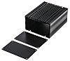 RS PRO Black Anodised Aluminium Project Box, 125