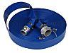 RS PRO PVC Flexible Tube, Blue, 25m Long,
