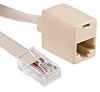 RS PRO Cat3 RJ45 Female, RJ45 Male Extender,