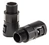 Adaptaflex M16 Straight Cable Conduit Fitting, Black 16mm