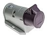 Mennekes IP44 Purple Wall Mount 2P Right Angle