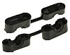HellermannTyton Cable Clamp Black Screw Polyamide Clip, 5.7mm