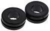 HellermannTyton Black PVC 11mm Round Cable Grommet for