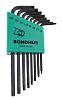 Bondhus 8 Piece L Shape Torx Key T6,