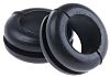 HellermannTyton Black PVC 8mm Round Cable Grommet for