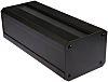 RS PRO Black Extruded Aluminium Heat Sink Case,