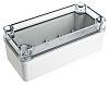 Fibox Piccolo, Grey, Transparent Polycarbonate Enclosure, IP66,