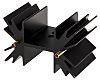 Disipador Fischer Elektronik negro, 6.5K/W, dim. 25.4 x 42 x 25mm