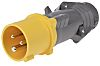 Legrand, HYPRA IP44 Yellow Cable Mount 2P+E Industrial
