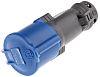 Blue 2P+E straight free socket,32A 230V