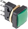 ITW Switches 49-59 Single Pole Double Throw (SPDT) Momentary Clear LED Push Button Switch, IP67, 16 (Dia.)mm, Panel