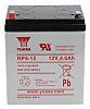 Yuasa NP4-12 Lead Acid Battery - 12V, 4Ah