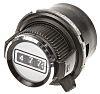 Vishay 30.6mm Black Potentiometer Knob for 6.35mm Shaft Splined, 26A21B010