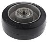 RS PRO Black Rubber Castor Wheels, 160kg