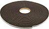 RS PRO Black Foam Tape, 12mm x 15m, 6mm Thick
