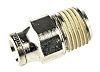 Norgren Pneumatic Straight Threaded-to-Tube Adapter, R 1/4 Male,