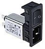 Bulgin,10A,250 V ac Male Snap-In IEC Filter 2