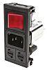 Bulgin,10A,250 V ac Male Snap-In IEC Filter 2 Pole BZV03/A0620/06 2 Fuse