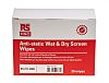 RS PRO Wet Screen Wipes for Laptop Screens,