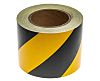 RS PRO Black/Yellow Reflective Tape 100mm x 25m