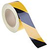 RS PRO Black/Yellow Reflective Tape 50mm x 25m