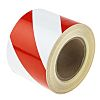 RS PRO Red/White Reflective Tape 100mm x 25m