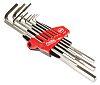 Wiha Tools 9 pieces Hex Key Set,  L Shape 1.5 mm, 2 mm, 2.5 mm, 3 mm, 4 mm, 5 mm, 6 mm, 8 mm, 10 mm
