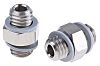 SMC Pneumatic Bulkhead Threaded Adapter, Metric M5 x
