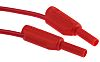 Staubli 2 mm Test lead, 10A, 600V, Red,