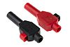 Staubli Black, Red Male Banana Plug - Clamp