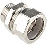 Kopex Adapter Cable Conduit Fitting, Brass Nickel Plated