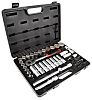 RS PRO 58 Piece Square Drive Socket Set, 1/2 in Square Drive