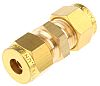 Wade 1/4in Straight Coupler Brass Compression Fitting