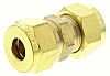 Wade 3/8in Straight Coupler Brass Compression Fitting