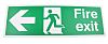 PVC FIRE EXIT, Fire Exit, English, Exit Sign