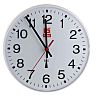 RS PRO Radio Controlled White Wall Clock, 255mm