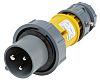 MENNEKES, PowerTOP IP67 Yellow Cable Mount 3P Industrial