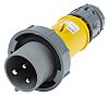 MENNEKES, PowerTOP IP67 Yellow Cable Mount 3P Industrial