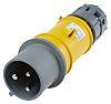 MENNEKES, PowerTOP IP44 Yellow Cable Mount 2P+E Industrial