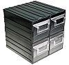 RS PRO 4 Drawer Storage Unit, Plastic, 208mm