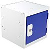 RS PRO 1 Door Blue Locker, 305 mm x 305 mm x 305mm