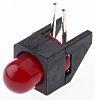 Broadcom HLMP-3301-F00B2, Red Right Angle PCB LED Indicator,