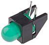 Broadcom HLMP-3507-D00B2, Green Right Angle PCB LED Indicator,